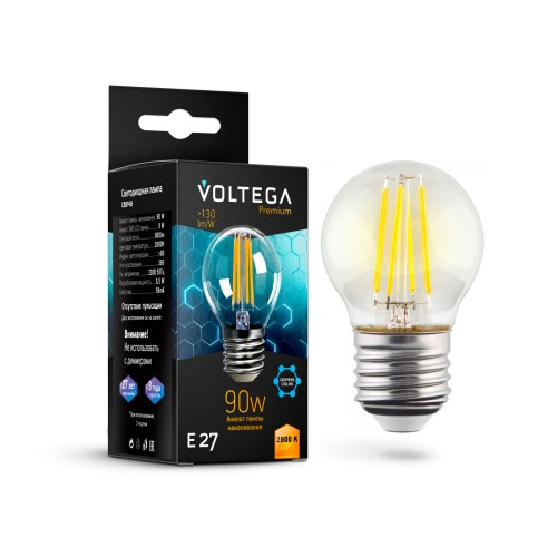 Лампочка Globe E27 9W Graphene 7138 Crystal Voltega